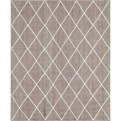 Geometric Jute Gray/Ivory Indoor / Outdoor Area Rug - Wayfair