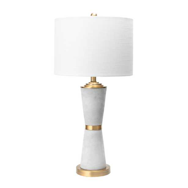 """Pacific Cement Table Lamp, 29"""" - Loom 23"""