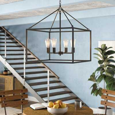 Zabel 4 - Light Lantern Square / Rectangle Pendant - Wayfair