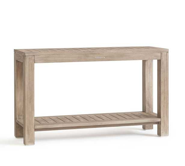 Indio FSC(R) Eucalyptus Console Table, Weathered Gray - Pottery Barn
