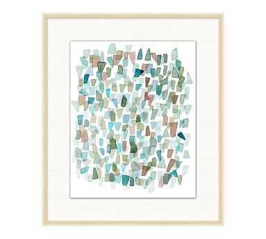 "Cabo Sea Glass 3 Framed Print, 23.25"" x 27.25"" - Pottery Barn"