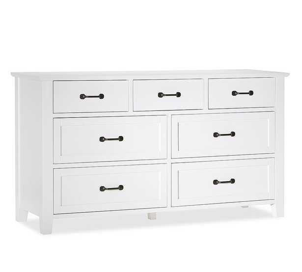 Stratton 7-Drawer Wide Dresser, Pure White - Pottery Barn