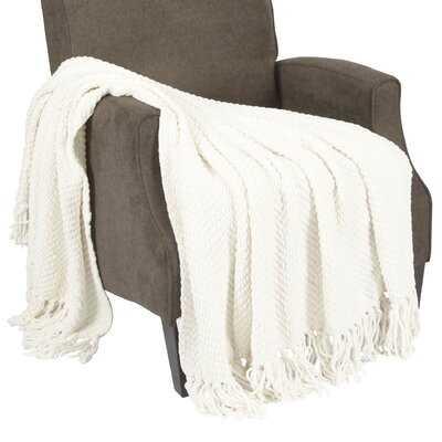 Nader Tweed Knitted-Design Throw - Birch Lane