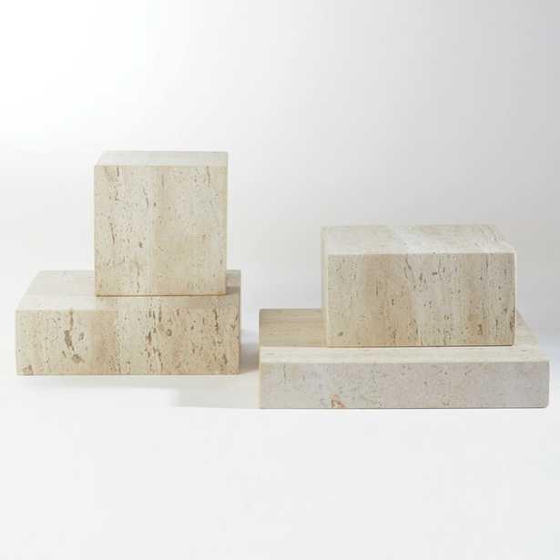 """Studio A Home Travertine Cube Riser Size: 6"""" H x 6"""" W x 6"""" D - Perigold"""