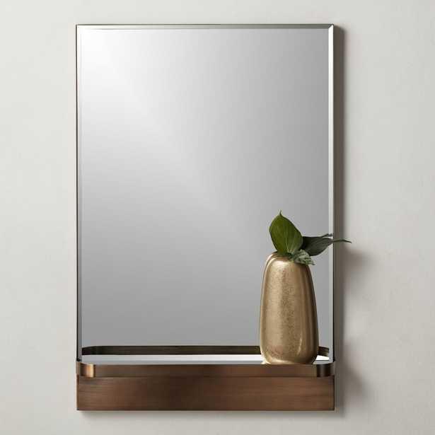 "Cooper Rectangular Mirror with Shelf 24""x36"" - CB2"