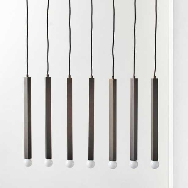 Lineaire Bronzed Black 7 Bulb Pendant Light - CB2