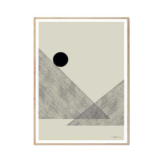 Altitude, Art Print By Studio Paradissi, 30X40Cm, Oak Frame - West Elm