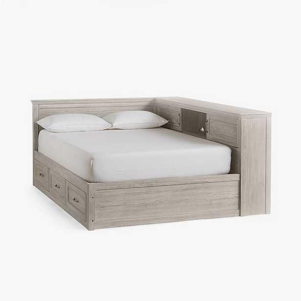 Hampton Corner Storage Bed, Queen, Brushed Fog, In-Home - Pottery Barn Teen
