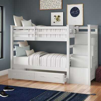 Leyburn Twin Over Twin Bunk Bed with Trundle and Drawers - Wayfair