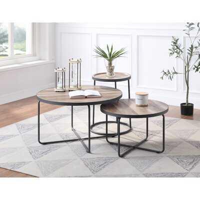 Cainsville 3 Piece Coffee Table Set - Round - Wayfair