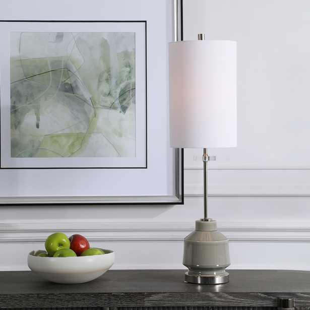 Porter Warm Gray Buffet Lamp - Hudsonhill Foundry