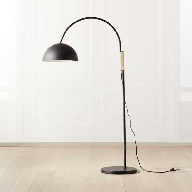 Jett Black Arched Floor Lamp - CB2
