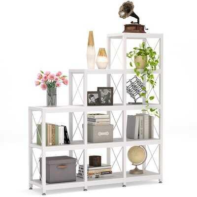 Landy 51.57'' H x 45.66'' W Metal Step Bookcase - Wayfair