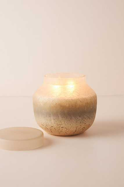 Strata Glass Candle By Anthropologie in Gold Size XL - Anthropologie