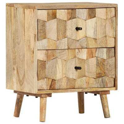 Roxann 2 - Drawer Solid Wood Nightstand in Beige - Wayfair