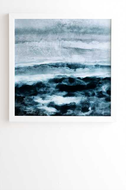 """Abstract Waterscape by Iris Lehnhardt - Framed Wall Art Basic White 12"""" x 12"""" - Wander Print Co."""