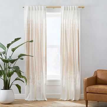 "Echo Print Curtain, Set of 2, Gold Dust, 48""x108"" - West Elm"