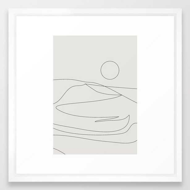 Abstract Landcape 15a Framed Art Print by The Old Art Studio - Vector White - MEDIUM (Gallery)-22x22 - Society6