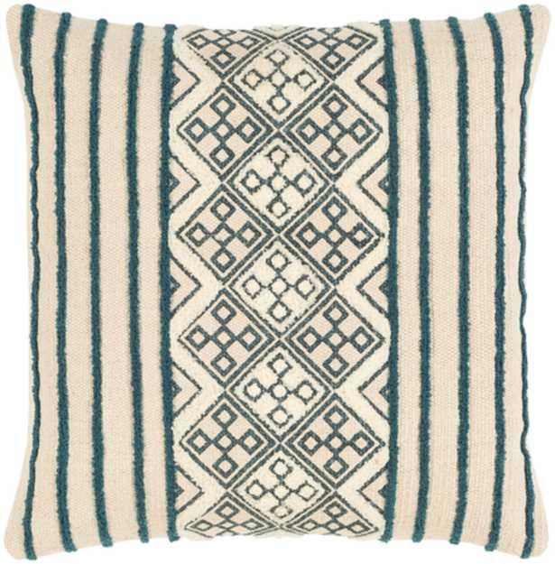 "Lilyana Pillow Cover, 20""x 20"", Bright Blue - Roam Common"