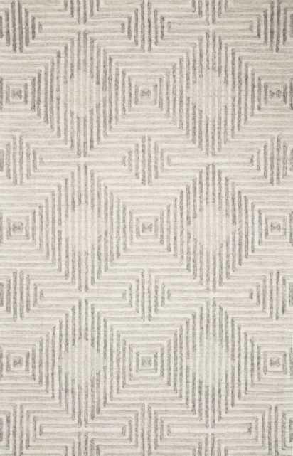 """Loloi Ehren EHR-02 Grey / Silver 9'-3"""" x 13' - Loma Threads"""