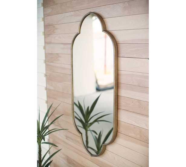 """Hailee Oval Wall Mirror, Brass, 23""""W x 48""""H - Pottery Barn"""