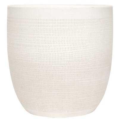 Keech Large Embossed Ceramic Pot Planter - Birch Lane