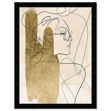 Oliver Gal Tangled Thoughts Framed Art, Multi - West Elm