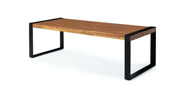 Lubek Tuscan Brown Dining Table For 8 - Article