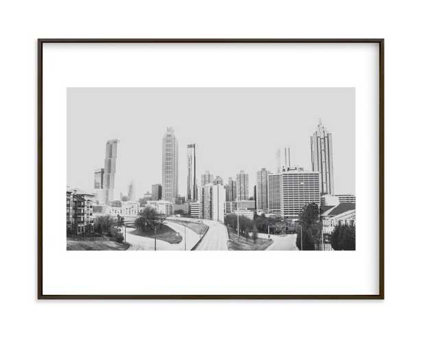 The City In Black And White Art Print - Minted