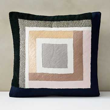 """Embellished Deco Colorblock Pillow Cover, 20""""x20"""", Multi - West Elm"""