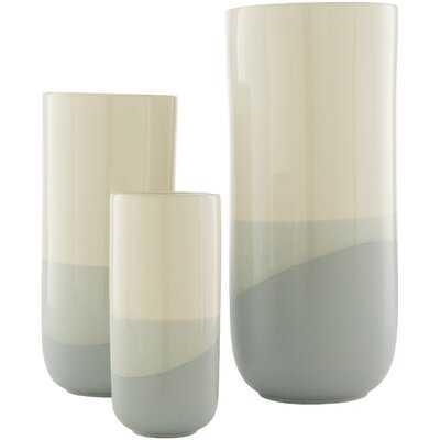 "3 Piece Ahmirah 14.35"" Indoor/Outdoor Ceramic Table Vase Set - AllModern"