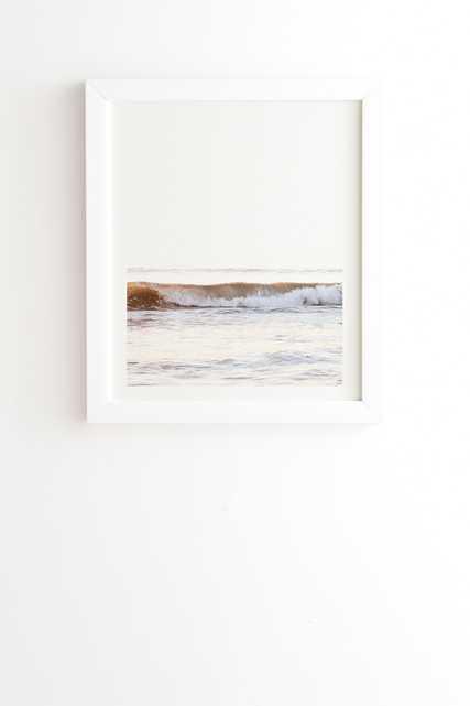 "Minimalist Wave by Bree Madden - Framed Wall Art Basic White 19"" x 22.4"" - Wander Print Co."