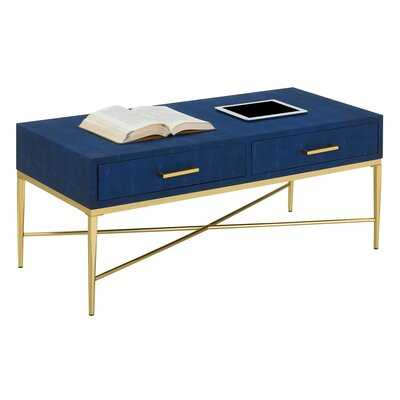 Hesson Cross Legs Coffee Table with Storage - Wayfair