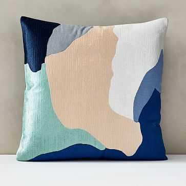 "Abstract Art Palette Pillow Cover, 20""x20"", Blue Ribbon - West Elm"