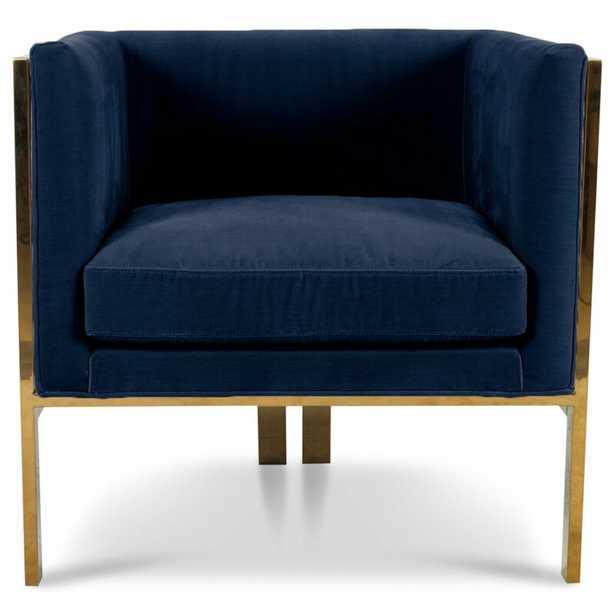 Kingpin Armchair Upholstery Color: Indigo Blue - Perigold