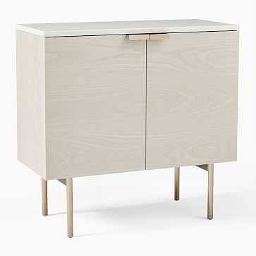 Delphine Entryway Console, Feather Gray - West Elm