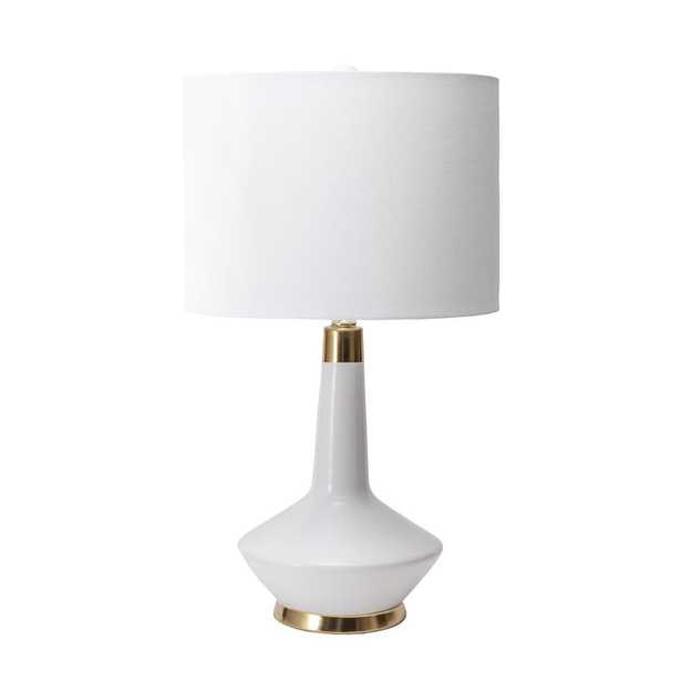 nuLOOM 25 in. White Helena Ceramic Indoor Table Lamp - Home Depot