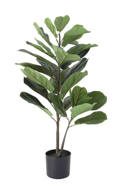 Potted Faux Fiddle Fig Leaf Plant - Nomad Home