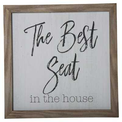 Picture Frame Textual Art on Wood - Wayfair