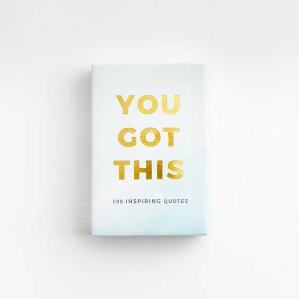 You Got This Cards Set: 100 Inspiring Quotes - Crate and Barrel