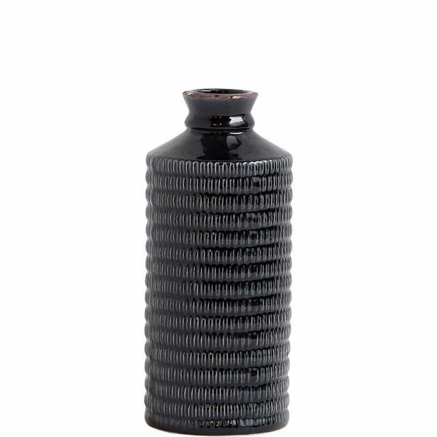 "Alston Black Ceramic Table Vase Size: 17"" H x 7"" W x 7"" D - Perigold"