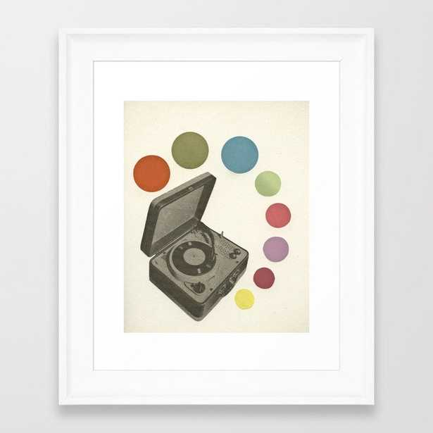 Pop Music Framed Art Print by Cassia Beck - Scoop White - X-Small-10x12 - Society6
