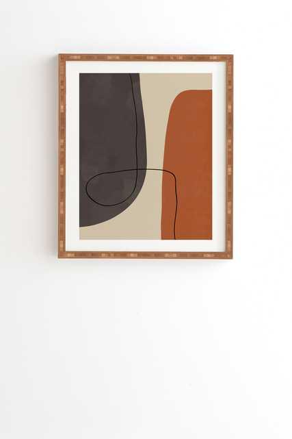 "Modern Abstract Shapes Ii by Alisa Galitsyna - Framed Wall Art Bamboo 8"" x 9.5"" - Wander Print Co."