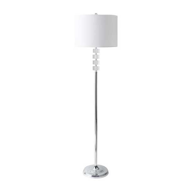 nuLOOM 62 in. Silver Cameron Crystal Indoor Floor Lamp - Home Depot