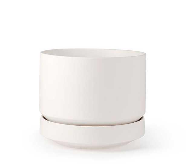 """Modern White Ceramic Planter, 6"""" - Pottery Barn"""