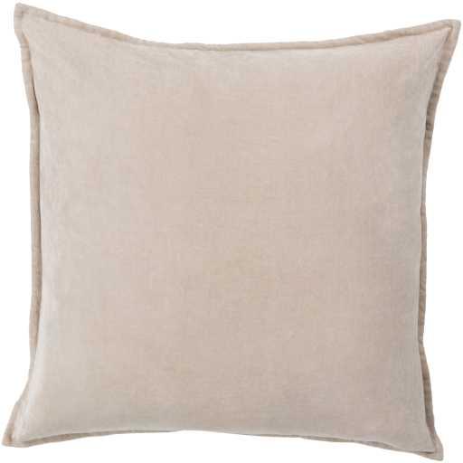 """Cotton Velvet Pillow, 18"""" x 18"""", Taupe - Neva Home"""