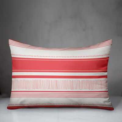 Mario Abstract Sketched Stripes Indoor/Outdoor Lumbar Pillow - Wayfair
