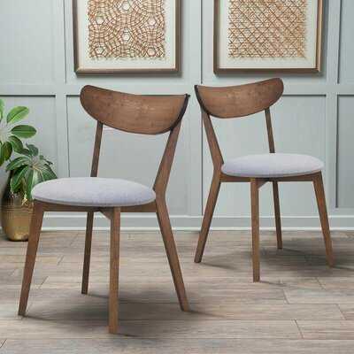 Ussery Side Chair in Walnut/Gray - Wayfair