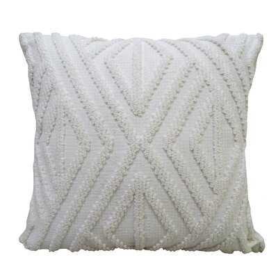 "Chicos Home White Outdoor Indoor Decorative Diamond Pillow 18""X18"" - Wayfair"