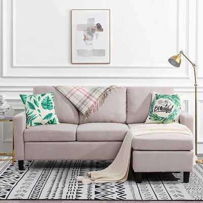 "Steller 71.75"" Wide Reversible Modular Sofa & Chaise with Ottoman - Wayfair"